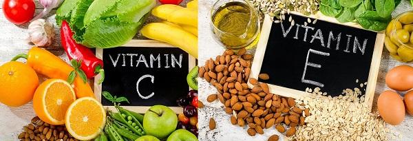 Vitamin C và E có nhiều trong các loại trái cây rau củ