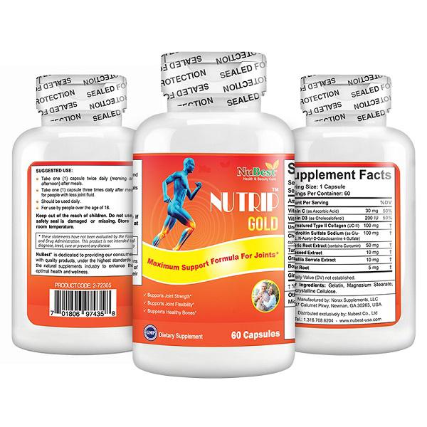 TPBVSK Nutrip Gold mang nhiều lợi ích cho sức khoẻ xương khớp