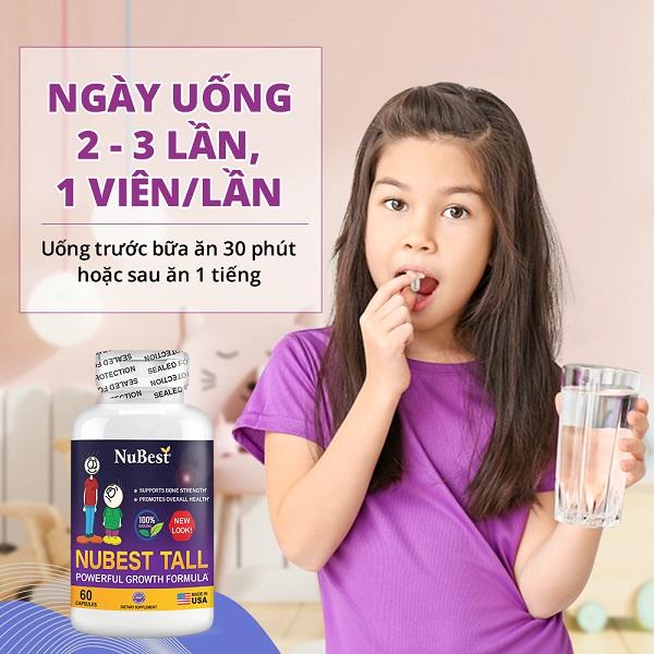 NuBest Tall chứa nhiều dưỡng chất hỗ trợ tăng chiều cao tốt nhất