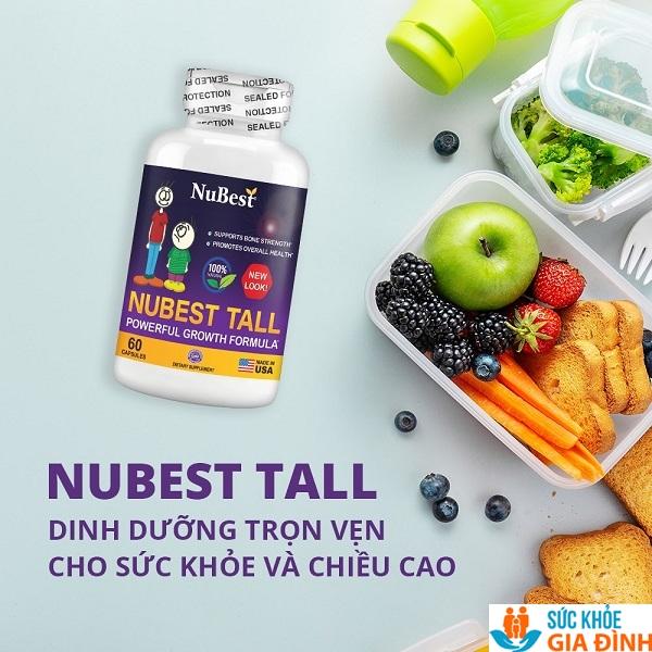 NuBest Tall được đánh giá là viên uốngtăng chiều cao chất lượng